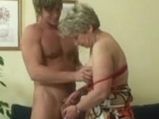 Lonely granny receives screwed in various positions