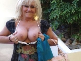 Mature busty wife tries her sexy clothes on