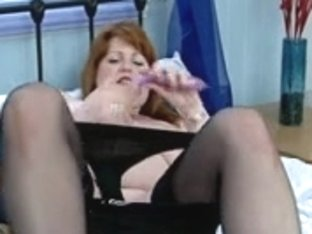 mature bulky redhead