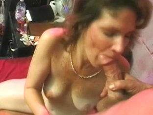 Older teacher is screwed hard by 2 dudes and receives ball goo on her face