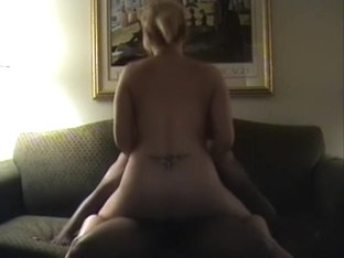 BBC loving wife receives double team-fucked on a sofa
