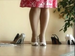 Trying om different heels, Sexy legs and shoe play, Very SEXY!!!!