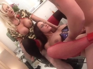 Hottest pornstars Antonia Deona and Demi Daniels in exotic blonde, big ass adult clip
