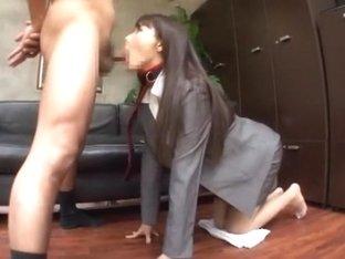 Hottest Japanese model Rui Saotome in Amazing Blowjob/Fera, POV JAV scene