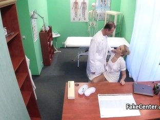 Blonde nurse fucked nervous doctor