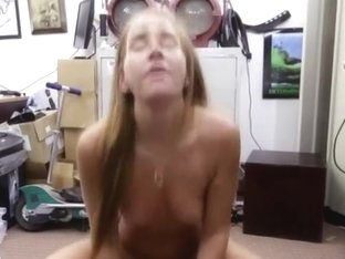 A blonde chick gives a fuck as revenge for being cheated