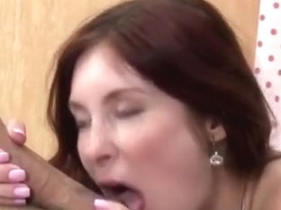 Penetrating the redheads fuck hole