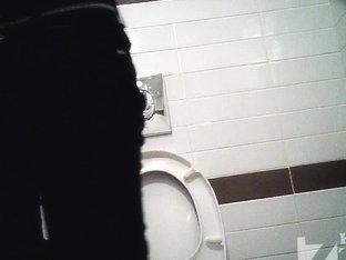 Girl demonstrates her trimmed honey pie on the spy camera