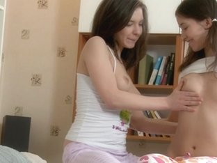 2 youthful girlfriends compulsory to engulf and screwed valuable