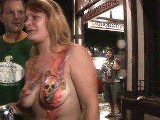 SpringBreakLife Video: Tits Painted In The Street