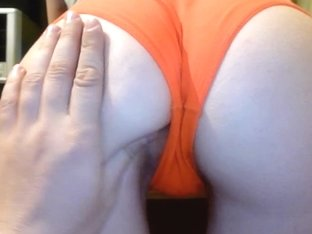Slapping my wife's juicy round butt on camera