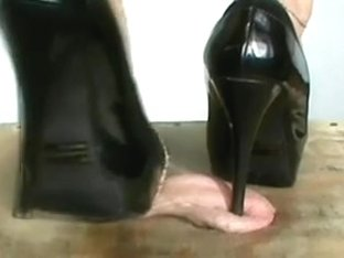 Cock crush in spike heels