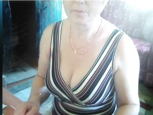 Showing my mature assets on a webcam