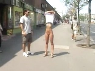 Showing her body to the whole city.