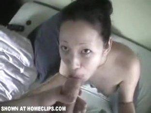 Oriental gf swallows a massive load from boyfriend