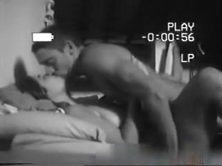 Couple romantic missionary sex with a titty cumshot