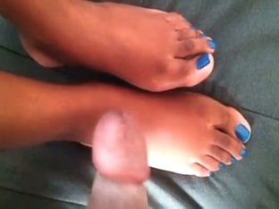 Great footjob for her boyfriend