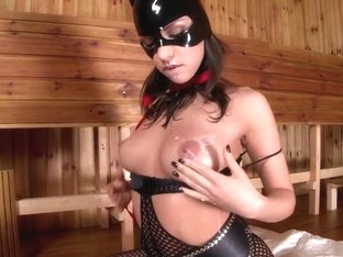 Best pornstar Latex Lucy in incredible lingerie, masturbation adult scene