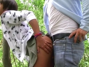 Layla in beautiful minx got her twat fucked in the park