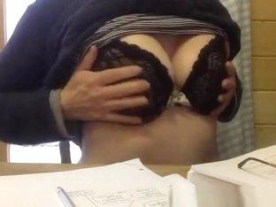 Playing with big hard nipples