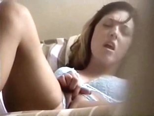 Masturbating teen girl caught on camera