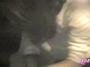 Lesbian babes have fun in voyeur video made through window