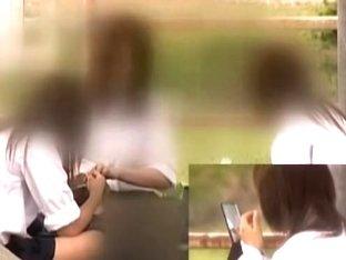 Schoolgirls get on kinky man upskirt hidden camera dvd DTEN-01