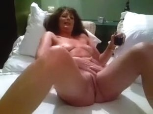 My ravishing cougar wife is undressed and playful in couch after dinner