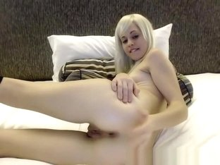 Young Pale Blonde Super Hot Teen On Cam