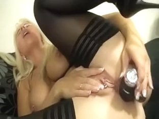 My sexy wife with pierced filthy cleft can't live without to fuck her rectal aperture with her sex.