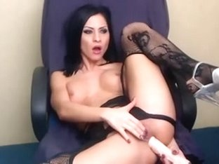 Sexy slut getting her ass hole toyed