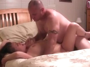 Dude talks dirty to his wife during sex and fills up her pussy