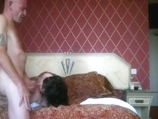 Mature woman warms up with a toy and fucks her man