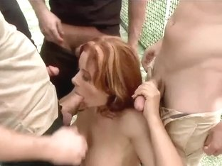 Sexy Latina Milf Gang Bang