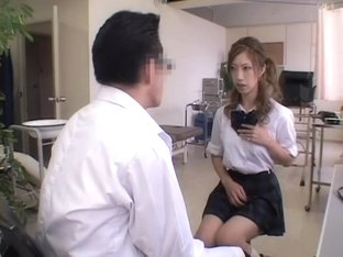 Fingering fun for a hot Japanese teen in medical exam video