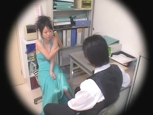 Awesome Asian hottie nailed in voyeur Japanese sex video