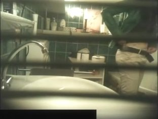 Hidden cam behind the bathroom window