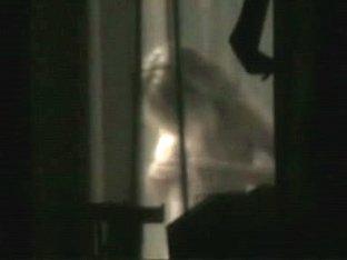 Amazing blonde neighbor window voyeur
