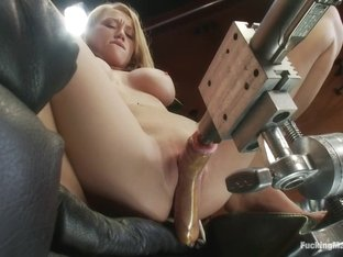 Horny squirting, fetish adult clip with fabulous pornstar Madison Scott from Fuckingmachines
