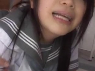 Rina Itou nice Asian teen in school uniform is a naughty girl