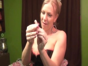 Britney Brookes humiliates tiny dick sissyfag SPH