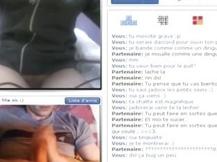 18yo french girl has cybersex with a stranger online and rubs her pussy