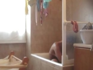 Hidden camera footage of my roomate taking a bath