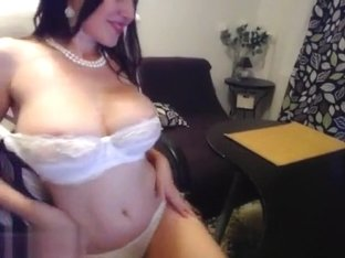 Belladonna in a white bra
