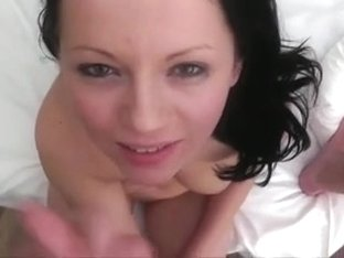 Brunette Hair takes a worthwhile facial after some fucking