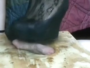 Cock Crush in Wedges and Pumps