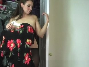 Horny Amateur record with Lingerie, Brunette scenes