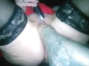My tattooed hubby enjoys fisting my pussy in POV clip