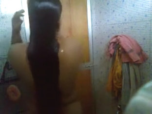 Big boob amateur video of a Latina taking a shower