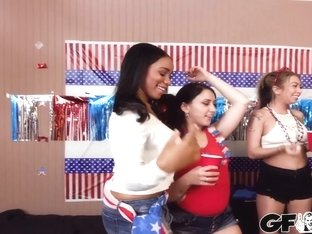 Jenna J Foxx, Kat Dior, Natasha Blue and Kinsley Eden In Star Spangled Sluts